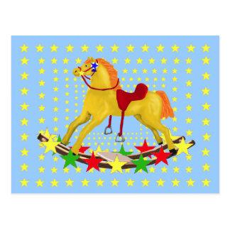 揺り木馬の星の乗車 ポストカード