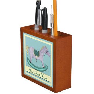 揺り木馬-昔ながらのなおもちゃ(パステル) ペンスタンド