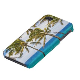揺れるココヤシの木の木(ココヤシのnucifera) iPhone 4/4Sケース