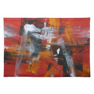 揺れる抽象的な絵画57 ランチョンマット