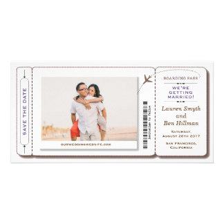 搭乗券の保存日付の写真カード カード