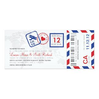 搭乗券の航空郵便のチケットの招待状 カード