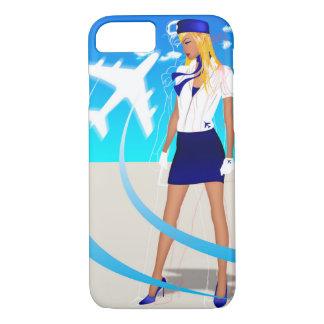搭乗員PNCボイングエアバスの飛行機旅行 iPhone 8/7ケース
