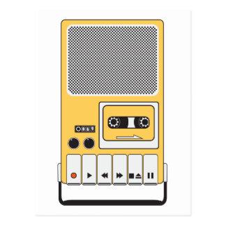 携帯用カセット・テープ・レコーダ ポストカード