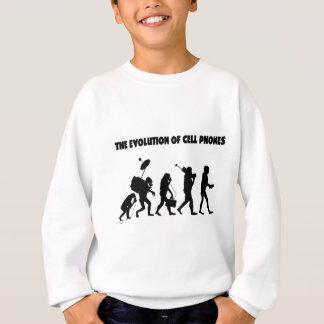 携帯電話の進化 スウェットシャツ