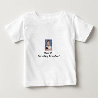 携帯電話を持つ幼児、ただそれだけ、私はGrを電話しています ベビーTシャツ