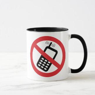 携帯電話無し マグカップ