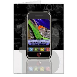 携帯電話、携帯電話のテキストメッセージ幸せなBirthda カード