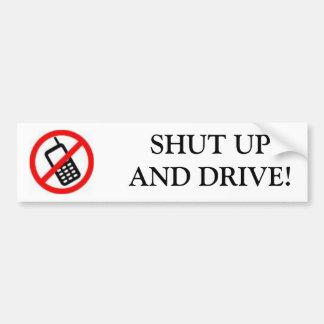 携帯電話、締められたUPANDドライブ! バンパーステッカー