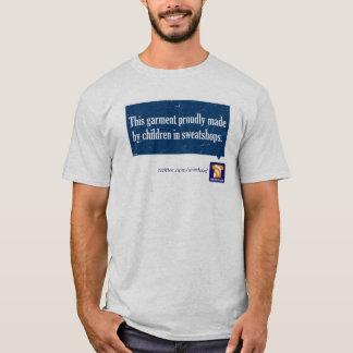 """""""搾取工場で""""のなされるこの衣服Tシャツ Tシャツ"""