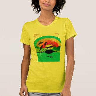 搾取工場の自由な海の日没タンク Tシャツ