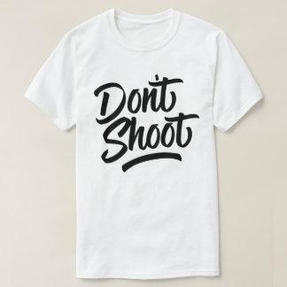 撃たないで下さい Tシャツ