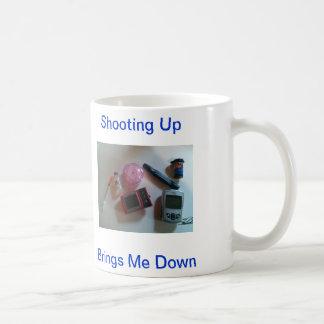 撃つことは糖尿病のかみ傷の下の私を連れて来ます コーヒーマグカップ