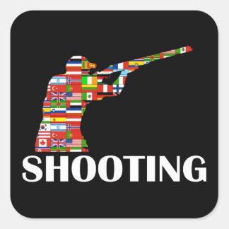 撃つこと 正方形シール
