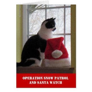 操作の雪のパトロールのクリスマスカード カード