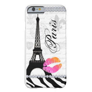 操作パリエッフェル塔のピンクの唇の携帯電話カバー BARELY THERE iPhone 6 ケース