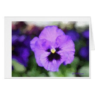 操作紫色のチャーム カード