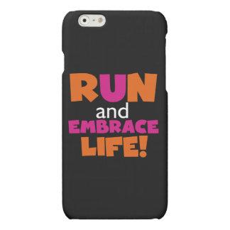 操業および容認の生命オレンジピンクの文字 マットiPhone 6ケース