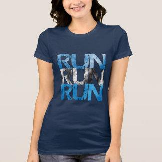 操業によって走られる操業-ランナー Tシャツ