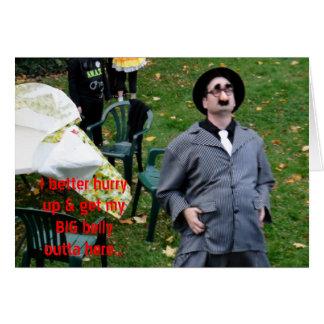 操業ハロウィンのユーモアの教父の大きい腹 カード