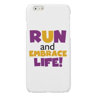 操業容認の生命紫色の黄色 光沢iPhone 6ケース