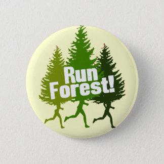操業森林は、アースデーを保護します 5.7CM 丸型バッジ