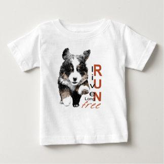 操業自由なBernerの子犬の乳児のTシャツ ベビーTシャツ