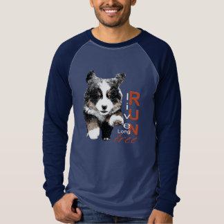 操業自由なBernerの子犬の人のワイシャツ Tシャツ