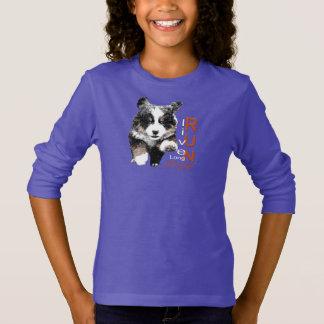 操業自由なBernerの子犬の女の子のスエットシャツ Tシャツ