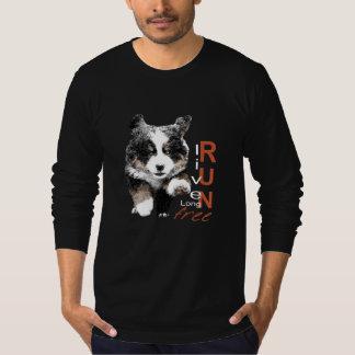 操業自由なBernerの子犬の長い袖のTシャツ Tシャツ