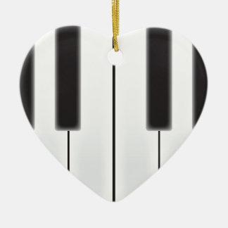 擦り切れたなピアノ鍵 セラミックオーナメント