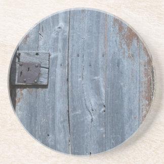 擦り切れたな、錆ついた木のドア コースター