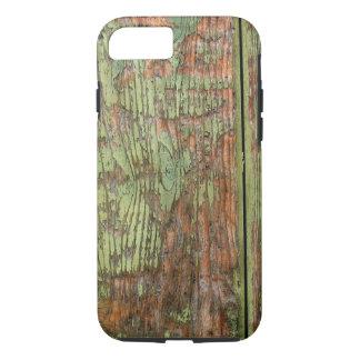 擦り切れたな、風化させた緑のペンキ iPhone 8/7ケース