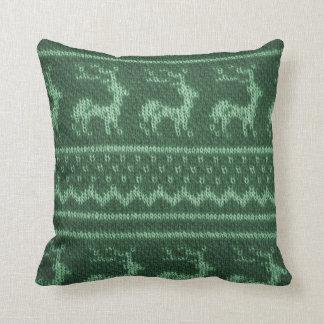擬似ニットウェアのクリスマスの枕 クッション