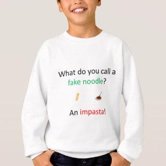 擬似ヌードルの冗談 スウェットシャツ