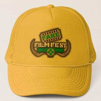 擬似フィルムのFestのロゴ キャップ