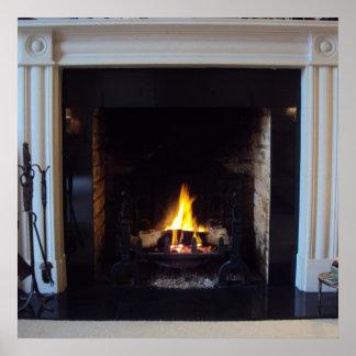 擬似暖炉 ポスター