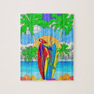 擬似木製の穀物の沿岸波の芸術 ジグソーパズル