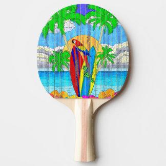 擬似木製の穀物の沿岸波の芸術 卓球ラケット