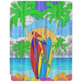 擬似木製の穀物の沿岸波の芸術 iPadスマートカバー