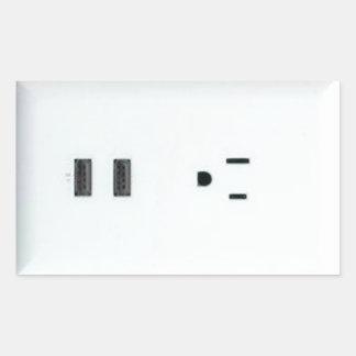 擬似USBの出口 長方形シール