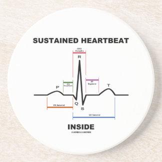 支えられた心拍の内部(ECG/EKG) ドリンクコースター