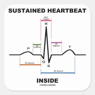 支えられる 心拍 中 (ECG/EKG) 正方形シール・ステッカー