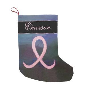 支える休日 のはっきりしたなピンクの乳癌の名前 スモールクリスマスストッキング