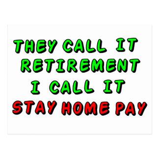 支払を家に居て下さい ポストカード