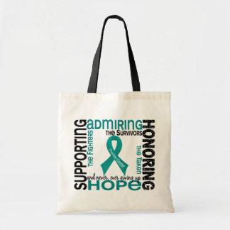 支持の賞賛9卵巣癌に名誉を与えます トートバッグ