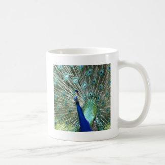 支柱の孔雀 コーヒーマグカップ
