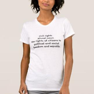 支柱8の人権のTシャツ(女性の白)のいいえ Tシャツ