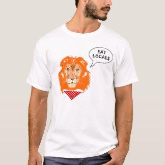 支部のおもしろいなライオンの大学ユーモアの漫画を食べて下さい Tシャツ