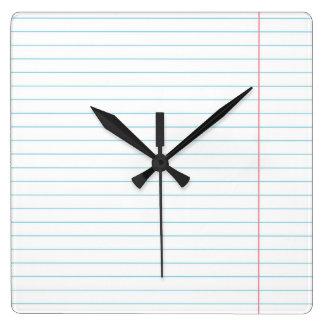 支配された並べられた紙 スクエア壁時計
